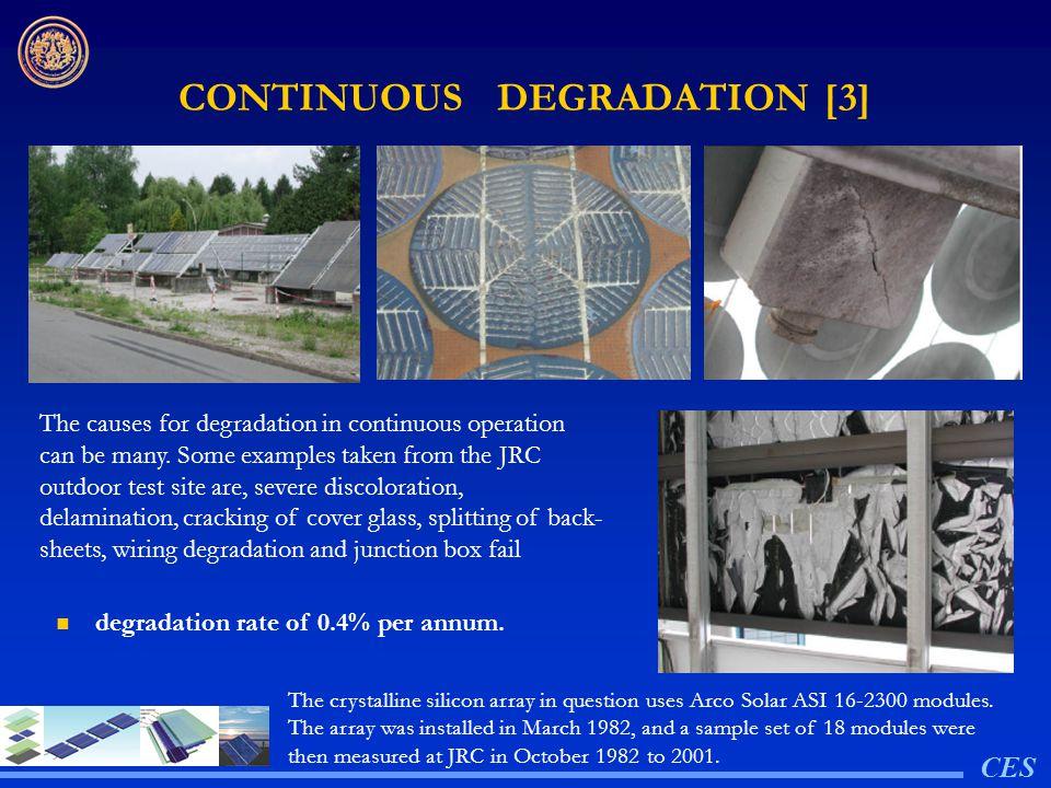 CONTINUOUS DEGRADATION [3]
